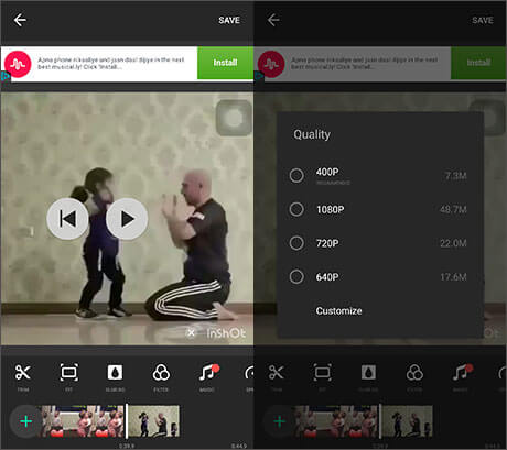 use inshot to edit videos
