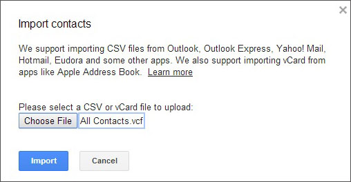 how to export contact to gmail