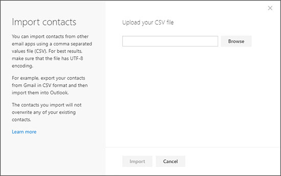export contact to hotmail