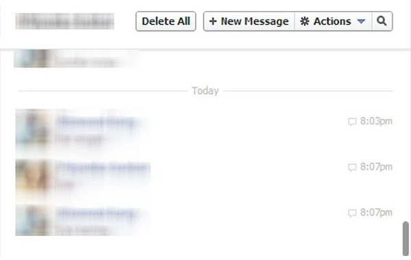 deleting messages on facebook