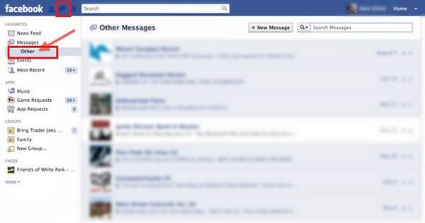 hide messages on facebook ios