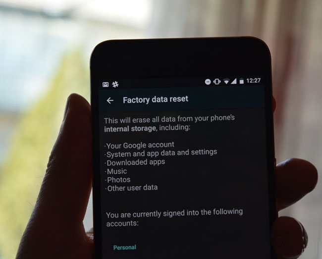unlock android via factory reset