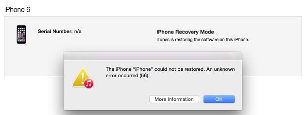 iphone error 56