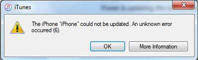 iphone error 6