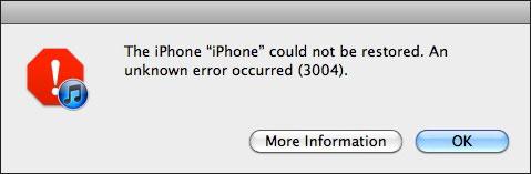 iphone 4s error 3004