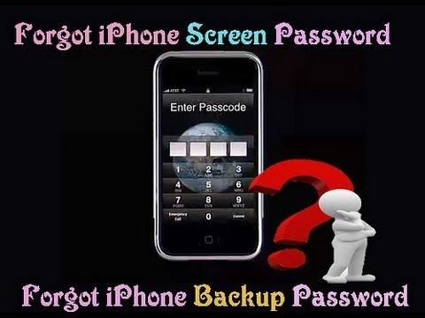 how to retrieve iphone password