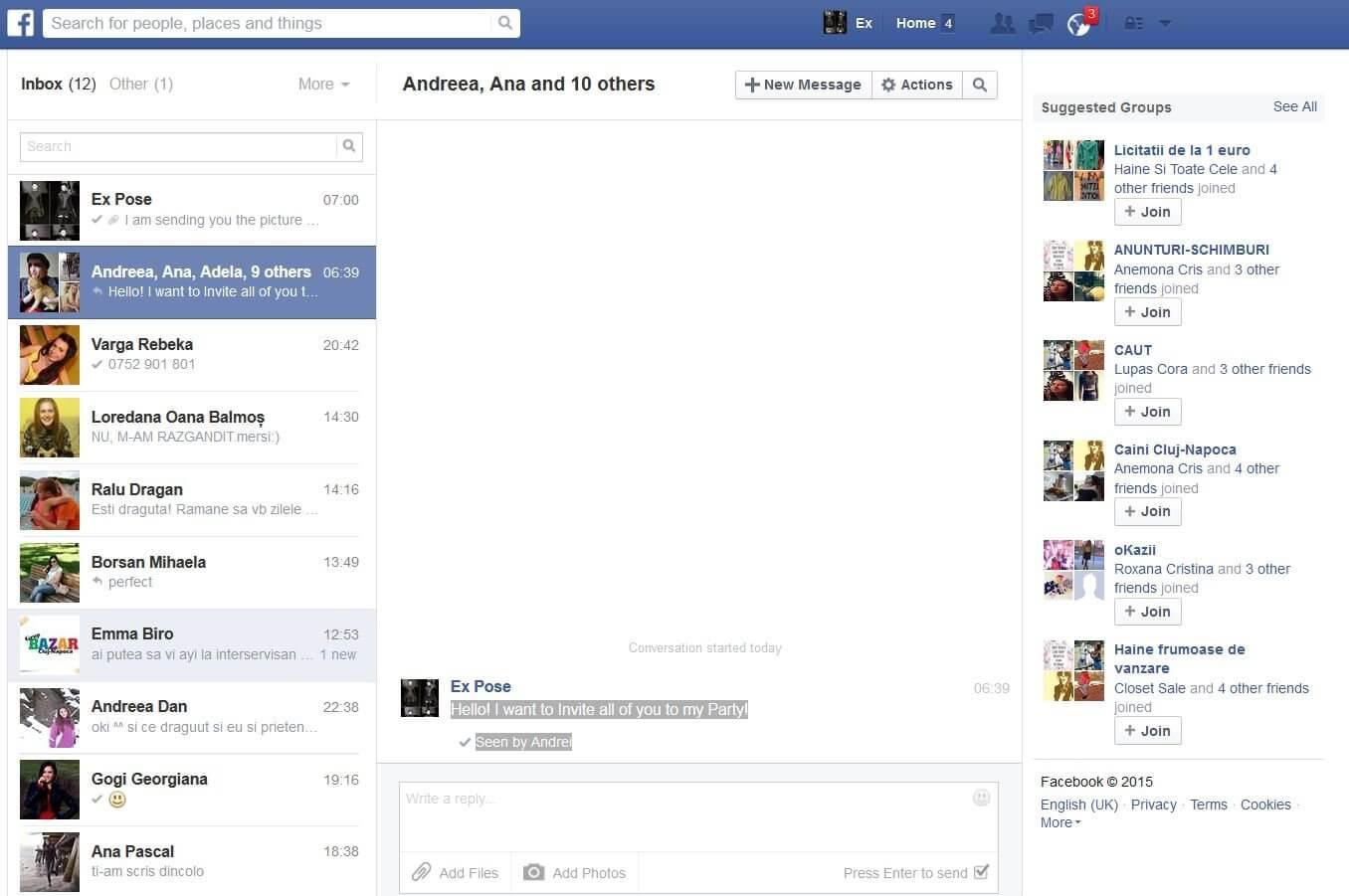 forward facebook messages