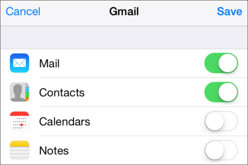 get contacts from google account to iphone