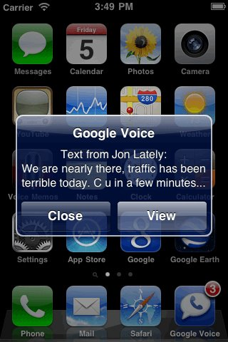 google voicemail iphone
