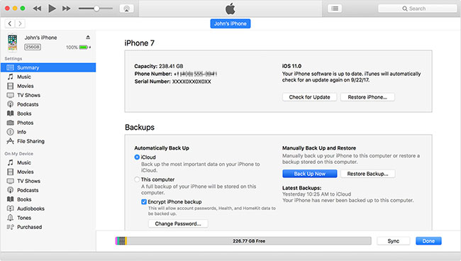 backup iphone without icloud