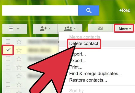 remove contacts from gmail
