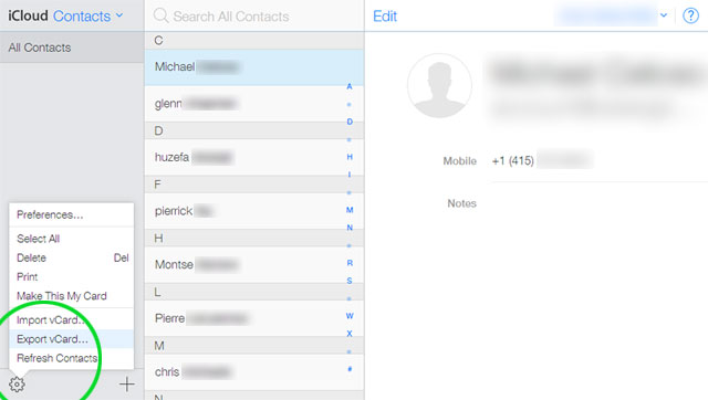 does icloud backup contacts
