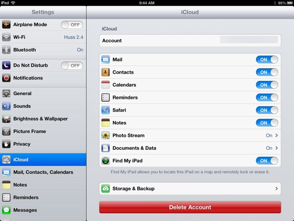 find iPad backup from ipad