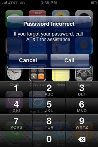 iphone keeps asking for voicemail password