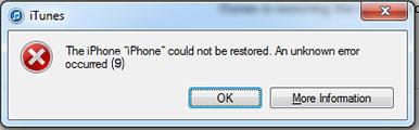 iphone error 9