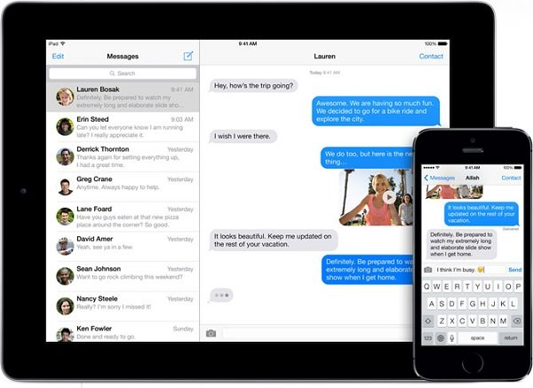 what is sms mms messaging on iphone