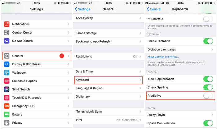 fix iphone keyboard problems with solutions
