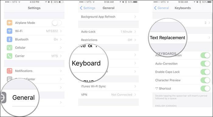 iphone keyboard type i