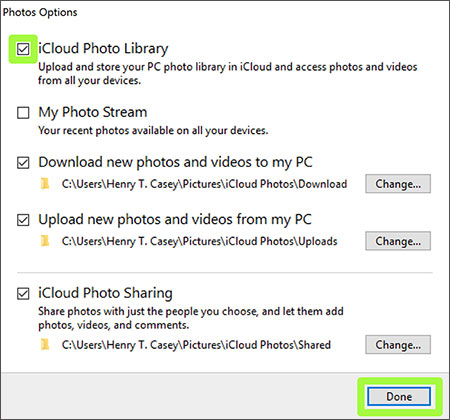 how to download icloud photos