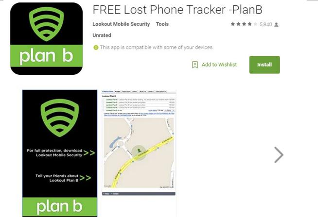 lost phone tracker plan b