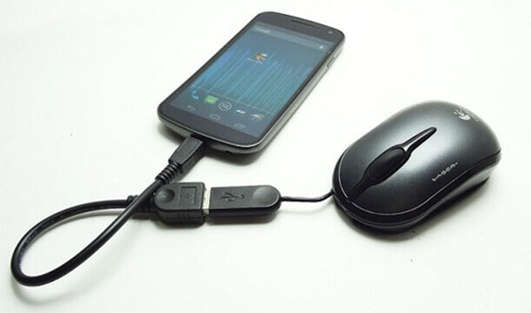 connect android to a mouse