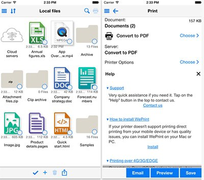 free printer app for iphone