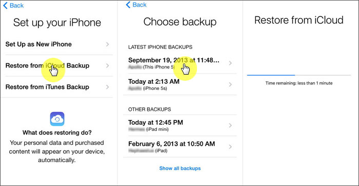 recover deleted messages using icloud backup