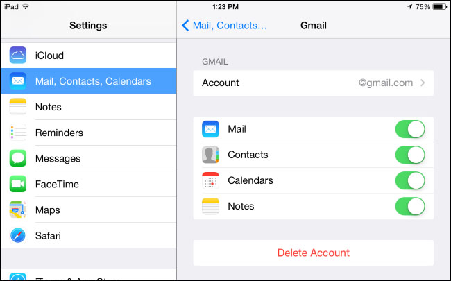 mail settings iphone ios 12