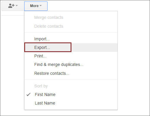 export gmail contacts to computer