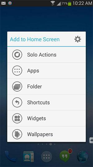 create a new app shortcut