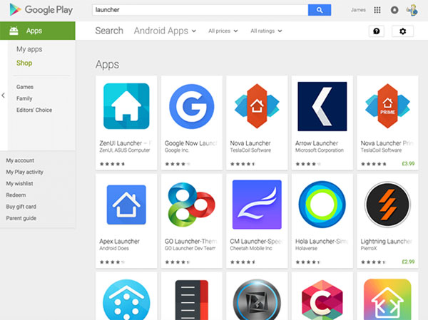 insall a new launcher to manage apps