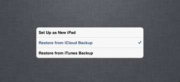 restore backup data from iphone 6 s