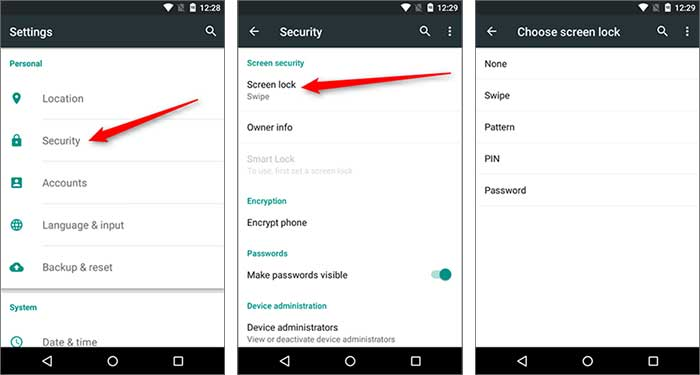 samsung password reset