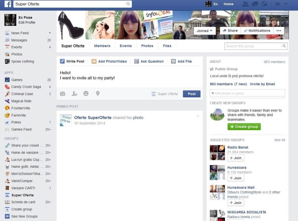 send message on facebook
