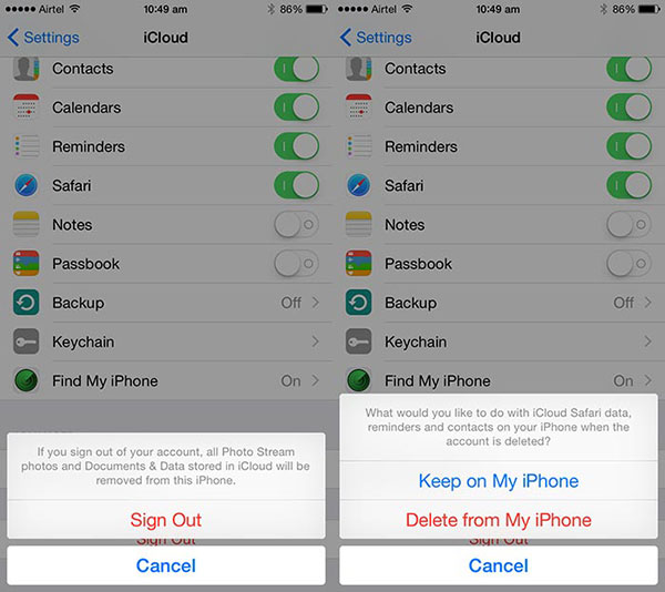 How to Reset iCloud on iPhone X/8 (Plus)/7 (Plus)/SE/6s (Plus)