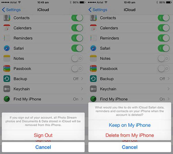 iphone x forgot icloud password