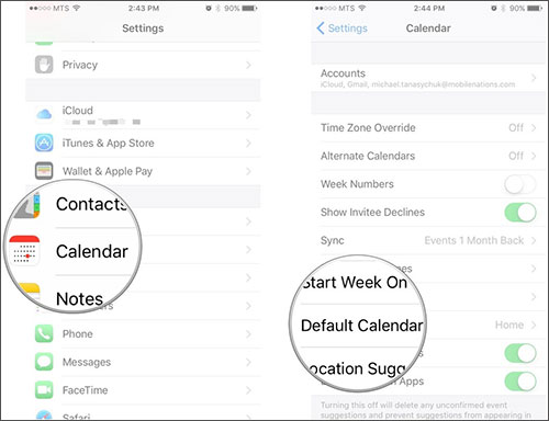 fix iphone calendar not syncing with outlook