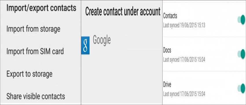 add contact to google account
