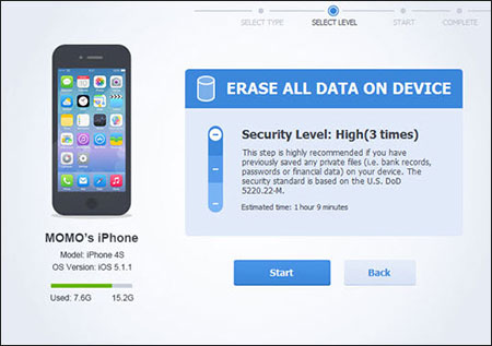 iphone data erase software