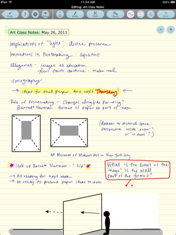 notes app for ipad