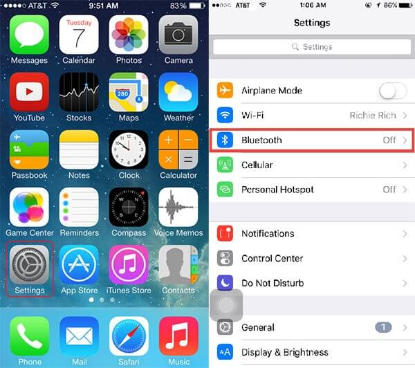 reset iphone Bluetooth