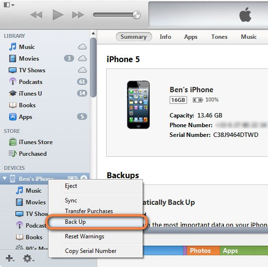 does itunes backup notes from iphone