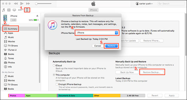 recover lost vidoes from itunes