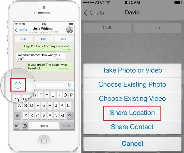 send whatsapp video on iphone