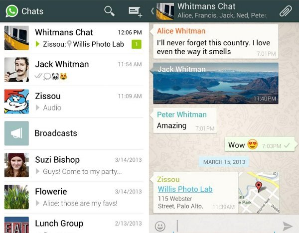 send whatsapp message on android