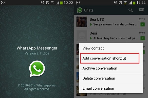 WhatsApp Contact Shortcut