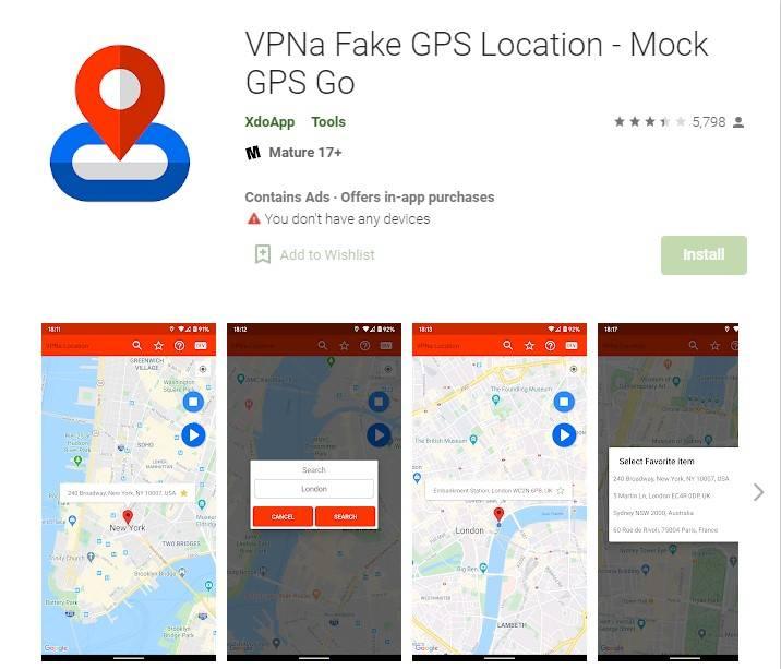 vpna fake gps location